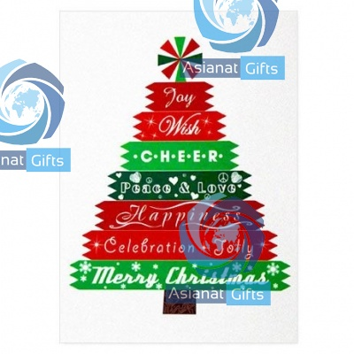 Merry Christmas Tree Holiday Greeting Card