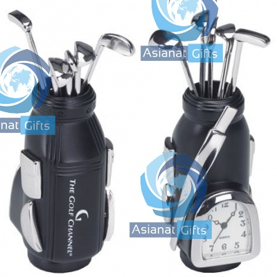 Golf Bag Die Cast Clock
