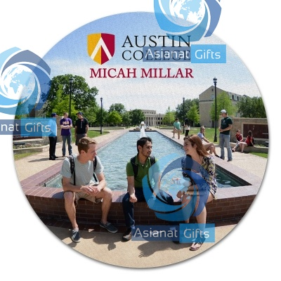 "8"" Round Individually Personalized Mouse Pad"