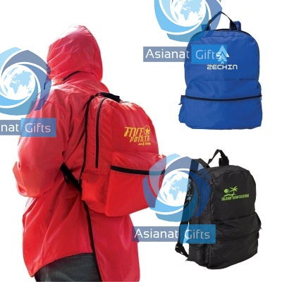 Backpack with Rain Jacket