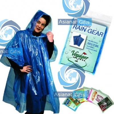Rain Poncho with Full Color Card