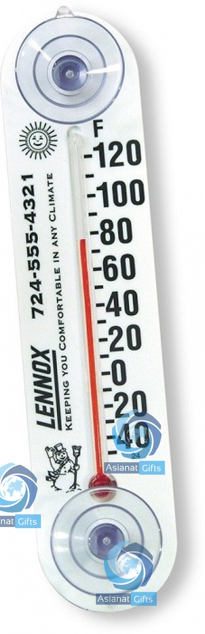 Slender Indoor/ Outdoor Thermometer w/ Suction Cups