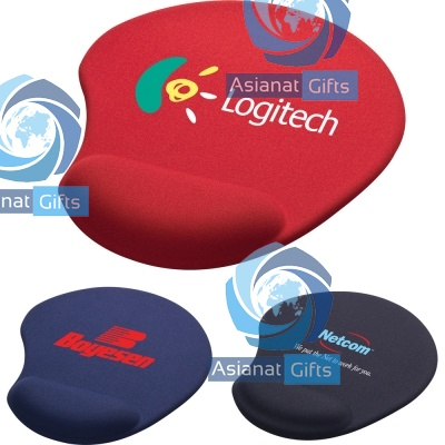 Solid Jersey Gel Mouse Pad w/ Wrist Rest