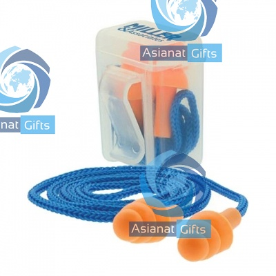 Corded Silicone Earplugs in Pocket Clip Case