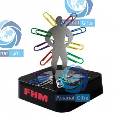 Man Silhouette Magnetic Paper Clip Holder