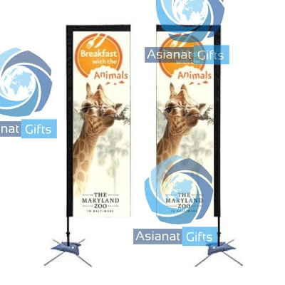 Rectangle Sail Sign Banner Kit - Double-Sided, Scissor Base