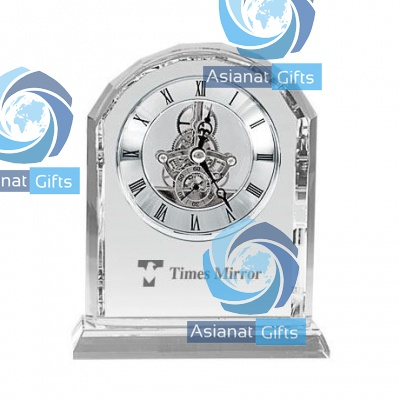 Crystal Arch Desk Clock