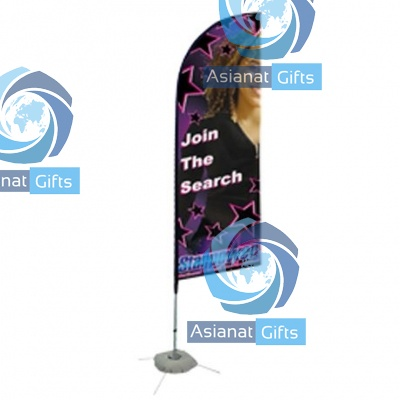Sail Sign Banner Kit - Double Sided, Scissor Base